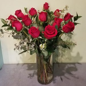 One Dozen Long Stem Red Roses